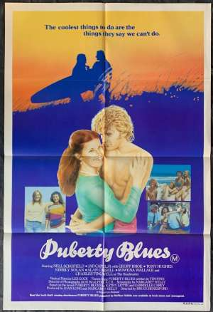 Puberty Blues Movie Poster Original One Sheet 1981 Bruce Beresford Surfing Girls