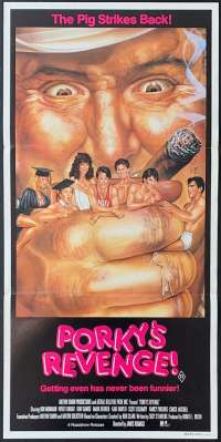 Porky's Revenge Movie Poster Original Daybill 1985 Dan Monahan