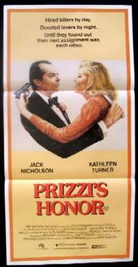 Prizzi's Honor Daybill Movie poster