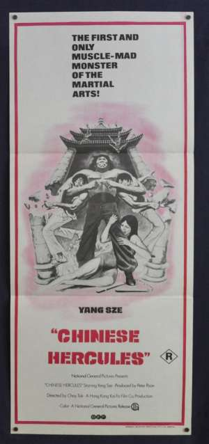 Chinese Hercules 1973 Daybill movie poster Kung Fu Yang Sze