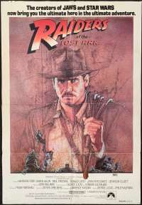 Raiders Of The Lost Ark 1981 movie poster one sheet Harrison Ford Amsel art