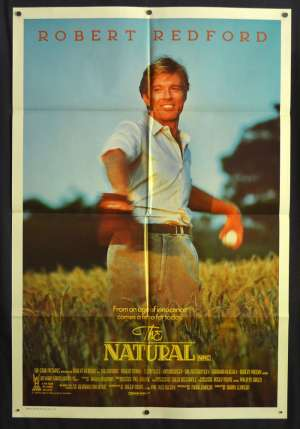 The Natural movie poster One Sheet Robert Redford Baseball