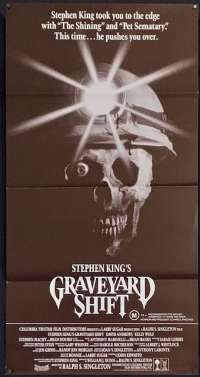 Graveyard Shift 1990 Daybill Movie Poster Stephen King Brad Dourif