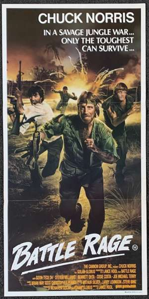 Missing In Action 2 Battle Rage Poster Original Daybill 1985 Chuck Norris