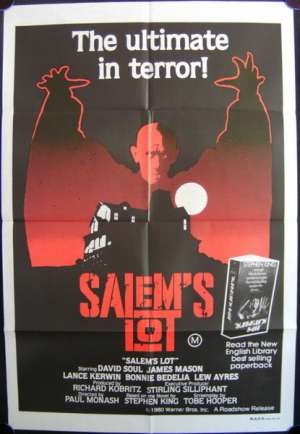 Salem's Lot 1979 One Sheet movie poster David Soul Tobe Hooper