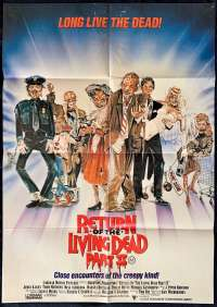 Return Of The Living Dead Part 2 1988 movie poster One Sheet Zombies