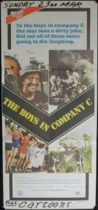 The Boys In Company C Poster Original Daybill Andrew Stevens Stan Shaw
