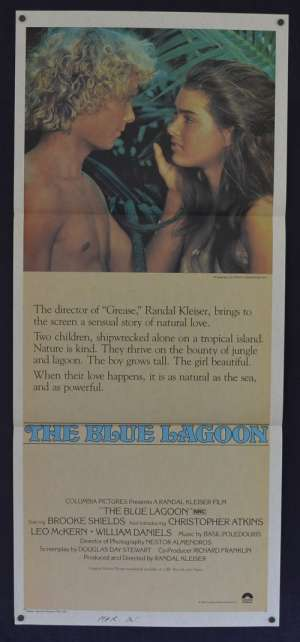 The Blue Lagoon Poster Original Daybill 1980 Brooke Shields Christopher Atkins
