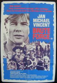 Brute Force Jan Michael Vincent One Sheet Australian movie poster