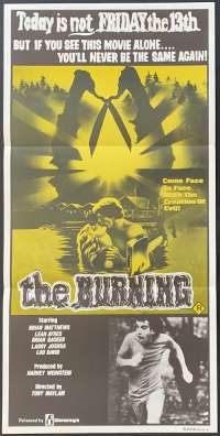 The Burning 1981 aka Cropsey Daybill movie poster Halloween