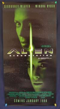 Alien 4 Resurrection 1997 Daybill movie poster advance Sigourney Weaver