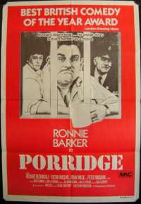 Porridge One Sheet Australian Movie poster