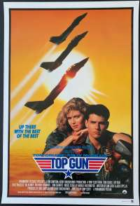 Top Gun 1986 Tom Cruise Tom Cat Jets One Sheet movie poster