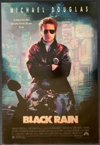 Black Rain Poster Original USA Rolled One Sheet 1989 Michael Douglas Andy Garcia