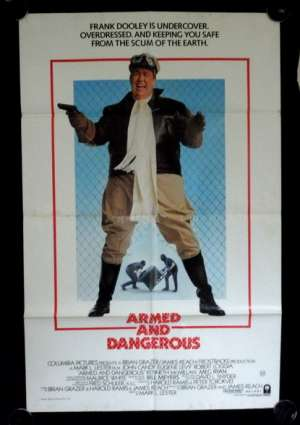 Armed And Dangerous Movie Poster Original One Sheet 1986 John Candy Meg Ryan