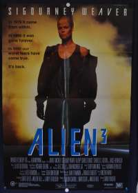 Alien 3 1992 One Sheet movie poster Sigourney Weaver Charles Dance