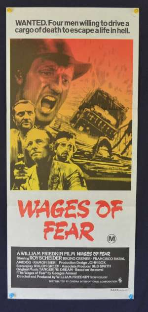 Wages Of Fear Daybill Movie poster