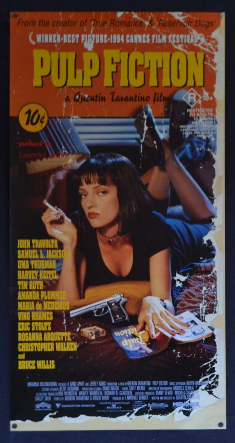 All About Movies   Pulp Fiction Movie Poster Original Daybill 20 ...