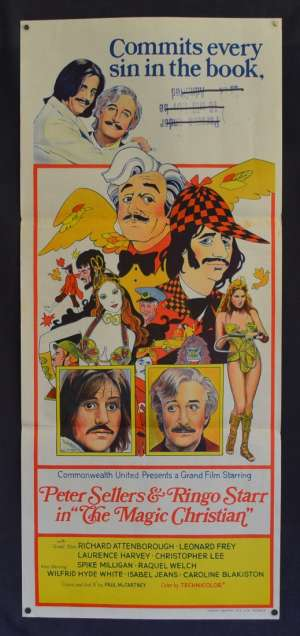 The Magic Christian Poster Original Daybill 1969 Ringo Starr Peter Sellers Comedy