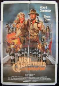 Allan Quatermain And The Lost City Of Gold Poster Richard Chamberlain Sharon Stone Australian One Sheet