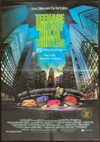 Teenage Mutant Ninja Turtles Poster Original One Sheet 1990 TMNT Martial Arts