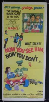 Now You See Him, Now You Don't Disney Daybill movie poster