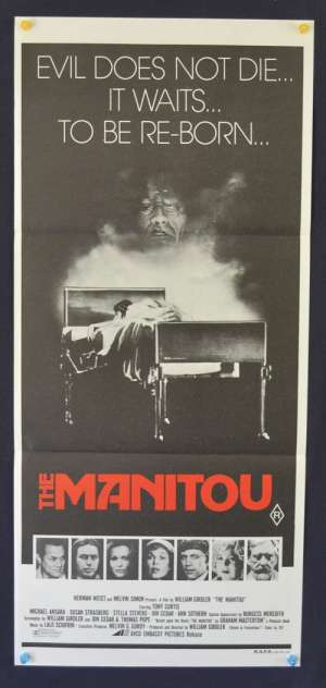 The Manitou Daybill Poster 1978 Tony Curtis Susan Strasberg