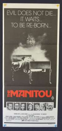 The Manitou 1978 Tony Curtis Susan Strasberg Daybill movie poster