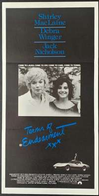 Terms Of Endearment 1983 Daybill movie poster Shirley Maclaine Alternate artwork