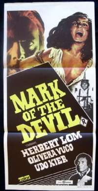 Mark Of The Devil Poster Herbert Lom Australian Daybill Movie poster
