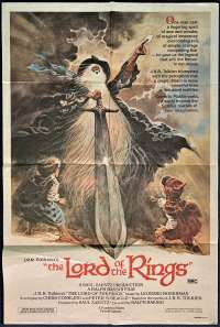 Lord Of The Rings Poster Original One Sheet 1980 Tom Jung Artwork