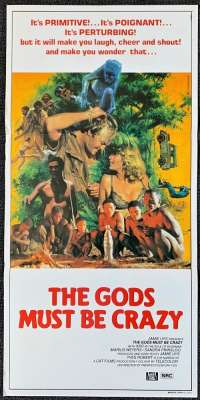 The Gods Must Be Crazy 1980 Daybill movie poster Coke Bottle