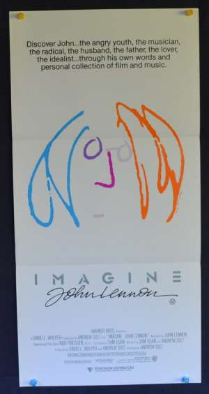 Imagine John Lennon art Beatles Australian Daybill movie poster