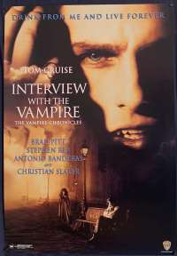 Interview With The Vampire Poster One Sheet REPRINT 1994 Tom Cruise Brad Pitt