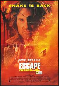 Escape From LA Poster Original One Sheet 1996 Kurt Russell John Carpenter