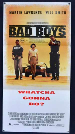 Bad Boys Poster Original Daybill 1995 Will Smith Martin Lawrence Cops