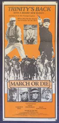 March Or Die Poster Original Daybill 1977 Gene Hackman Terence Hill