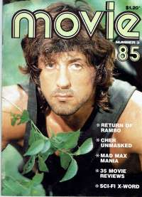Movie Magazine 1985 Number 3 Rambo First Blood Part II Stallone
