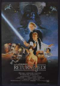 Star Wars Return Of The Jedi 1983 One Sheet movie poster Reprint Harrison Ford Mark Hamill