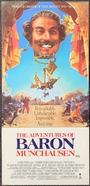 The Adventures Of Baron Munchausen Poster Original Daybill Terry Gilliam Eric Idle