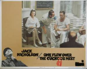 One Flew Over The Cuckoo's Nest Jack Nicholson Lobby Card No. 8