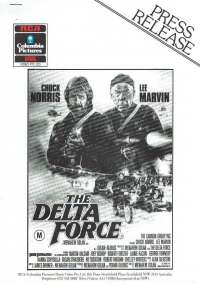 The Delta Force Press Release Home Video 3 Page Chuck Norris Lee Marvin