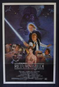 Star Wars Return Of The Jedi 1983 One Sheet movie poster USA Style B Harrison Ford
