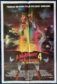 A Nightmare On Elm Street 4 movie poster One Sheet Horror Robert Englund