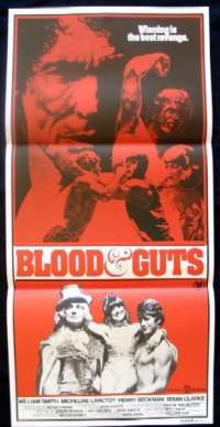 Blood & Guts 1978 Daybill movie poster Wrestling Henry Beckman
