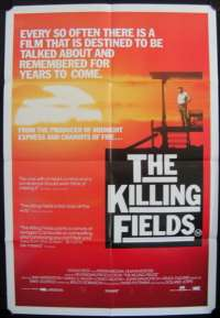 The Killing Fields 1984 One Sheet Australian Movie poster Sam Waterson John Malkovich