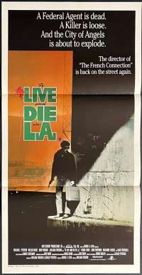 To Live And Die In LA Daybill Movie poster William Petersen