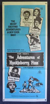The Adventures of Huckleberry Finn Daybill Movie poster