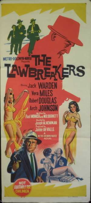 The Lawbreakers Jack Warden Vera Miles Daybill Movie Poster