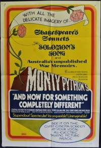 Monty Python's And Now For Something Completely Different Poster Original One Sheet